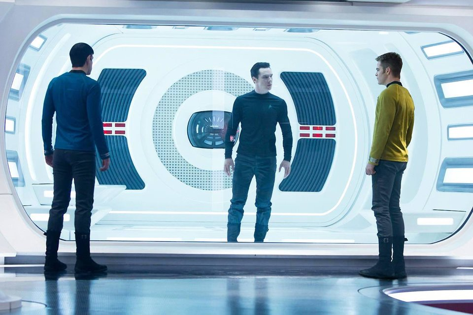 Photo - From left, Zachary Quinto, Benedict Cumberbatch and Chris Pine star in