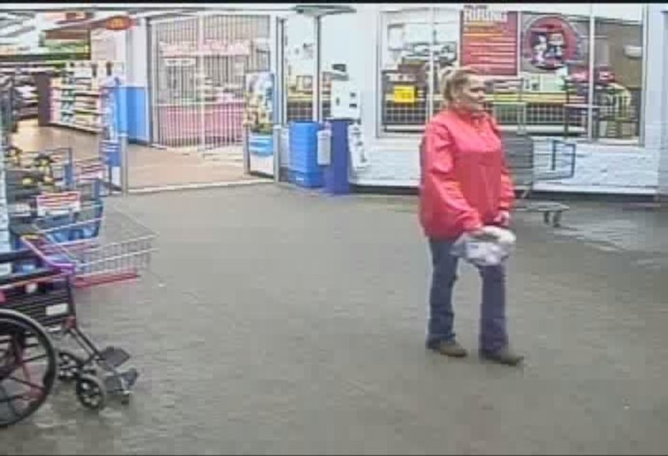 Photo -  Oklahoma City police are searching for two women, one of whom is seen in this image taken from surveillance video, who are suspected of using counterfeit checks and stolen credit cards. IMAGE PROVIDED
