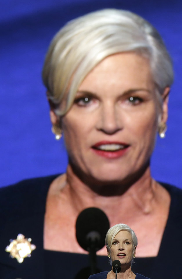 Photo - President of Planned Parenthood Action Fund Cecile Richards addresses the Democratic National Convention in Charlotte, N.C., on Wednesday, Sept. 5, 2012. (AP Photo/Charles Dharapak)  ORG XMIT: DNC753