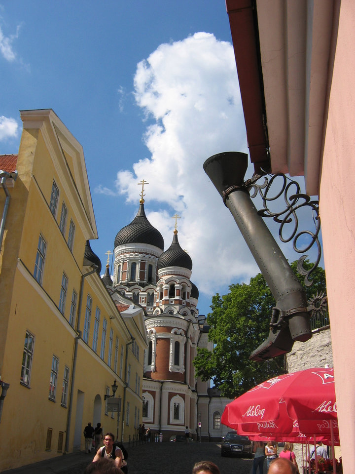 Photo - Lower Leg Street winds from Lower Town to Nevsky Cathedral in Tallinn, Estonia. BY CHARLIE PRICE, FOR THE OKLAHOMAN ORG XMIT: 0710251805060219