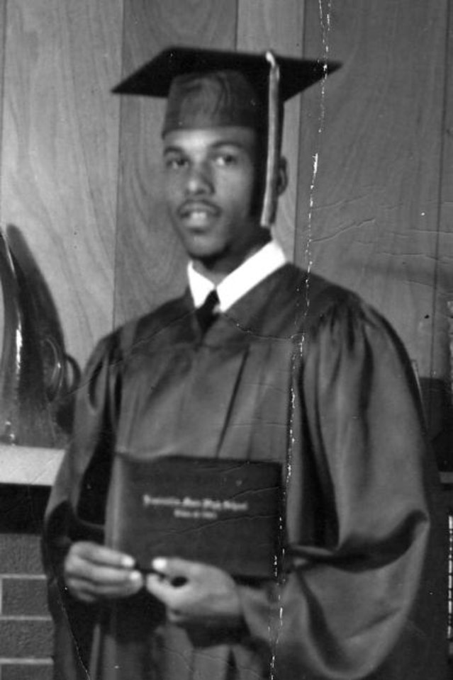 Photo -  Robert Edison is shown at his high school graduation. [Photo provided]