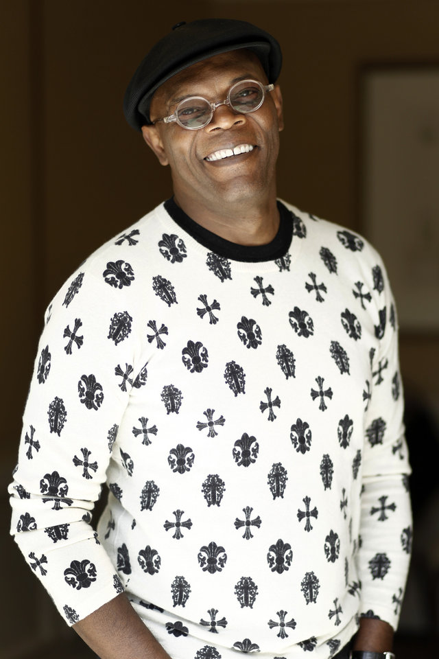 Photo -   In this April 12, 2012 photo, Samuel L. Jackson who plays Nick Fury in the upcoming film