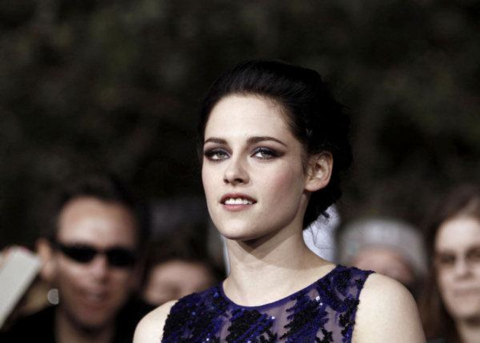 "Kristen Stewart arrives at the world premiere of ""The Twilight Saga: Breaking Dawn - Part 1"" on Monday in Los Angeles. (AP Photo/Matt Sayles) <strong>Matt Sayles - AP</strong>"