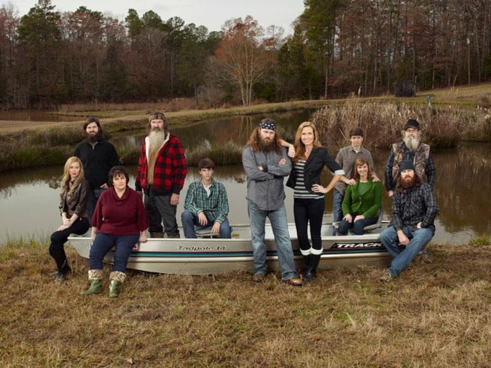 Photo -  The Robertson family from A&E's Duck Dynasty    Photo by Photo by Zach Dilgard Copyright 2011