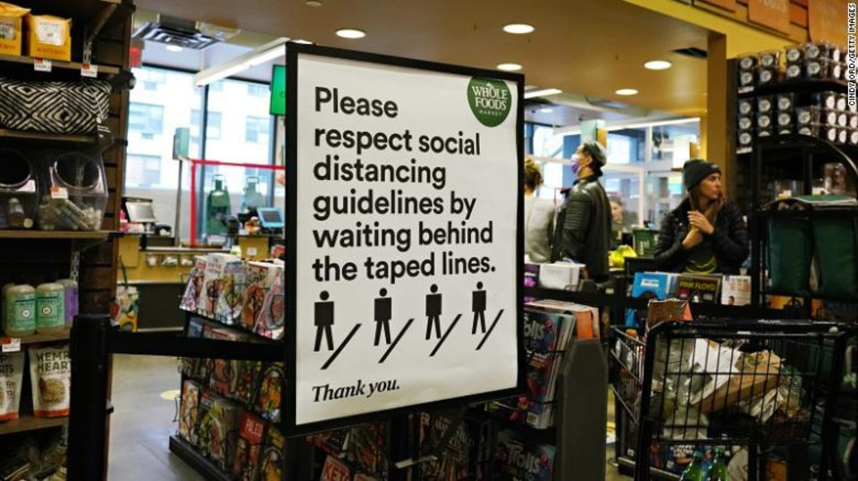 Photo - A sign at Whole Foods.