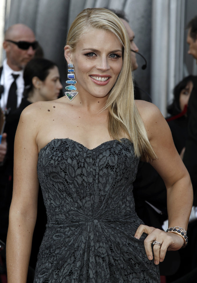 Busy Philipps arrives before the 84th Academy Awards on Sunday, Feb. 26, 2012, in the Hollywood section of Los Angeles. (AP Photo/Matt Sayles) ORG XMIT: OSC263