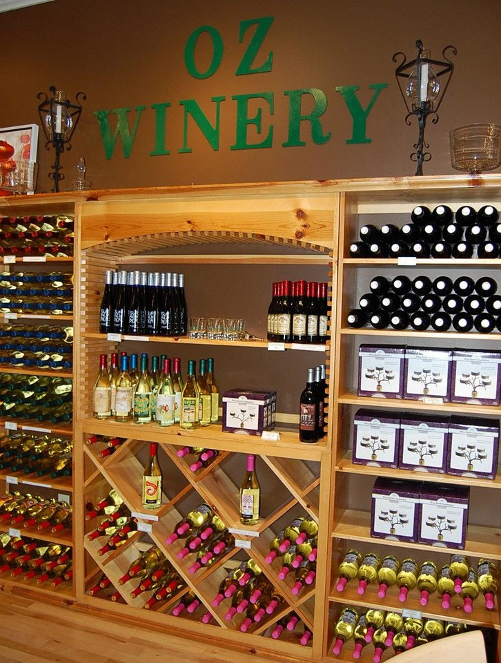 The Oz Winery offers Oz-themed wines in Wamego, Kansas.  Photo by Annette Price, for The Oklahoman. <strong></strong>