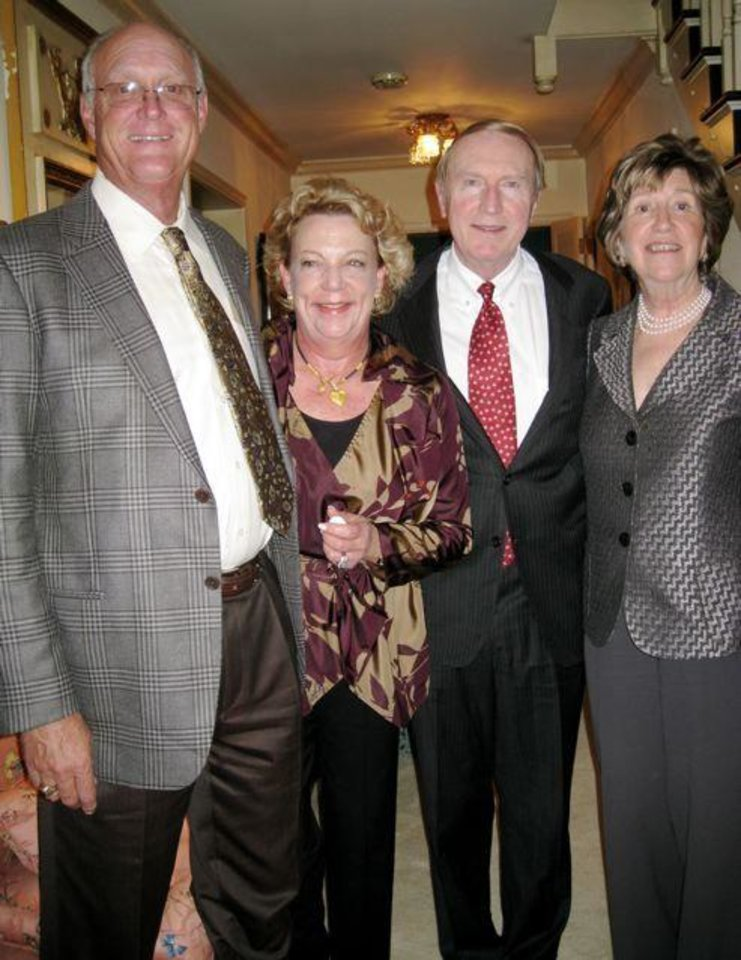 PARTY TO REMEMBER....Barbara and Bud Beeler and Dr. Mark and Lela Sullivan. ( Photo by Helen Ford Wallace).