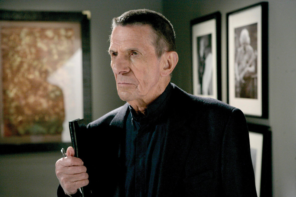 Photo - TV SERIES / TELEVISION: FRINGE: Leonard Nimoy guest-stars as William Bell, owner and founder of Massive Dynamics, in the FRINGE season finale episode