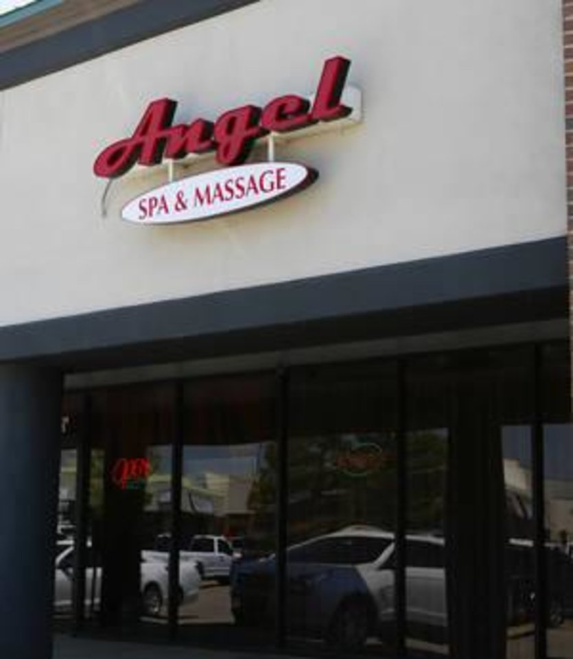 Photo -  Angel Spa and Massage opened under new ownership at 6909 W Hefner Road in Oklahoma City after Oklahoma City revoked the business license of an Angel Spa business that operated out of a strip mall at 8111 S Interstate 35 in 2016 after police found evidence of illicit activity there.  [Photo by Jacob Derichsweiler, The Oklahoman]