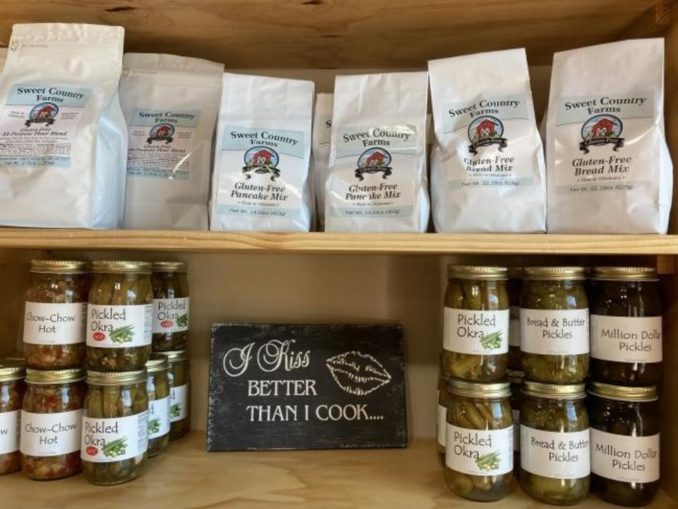 Photo -  Home canned pickles and gluten-free pancake and bread mixes will be among the offerings at the Arcadia Farmers Market General Store. [KIMBERLY BURK]