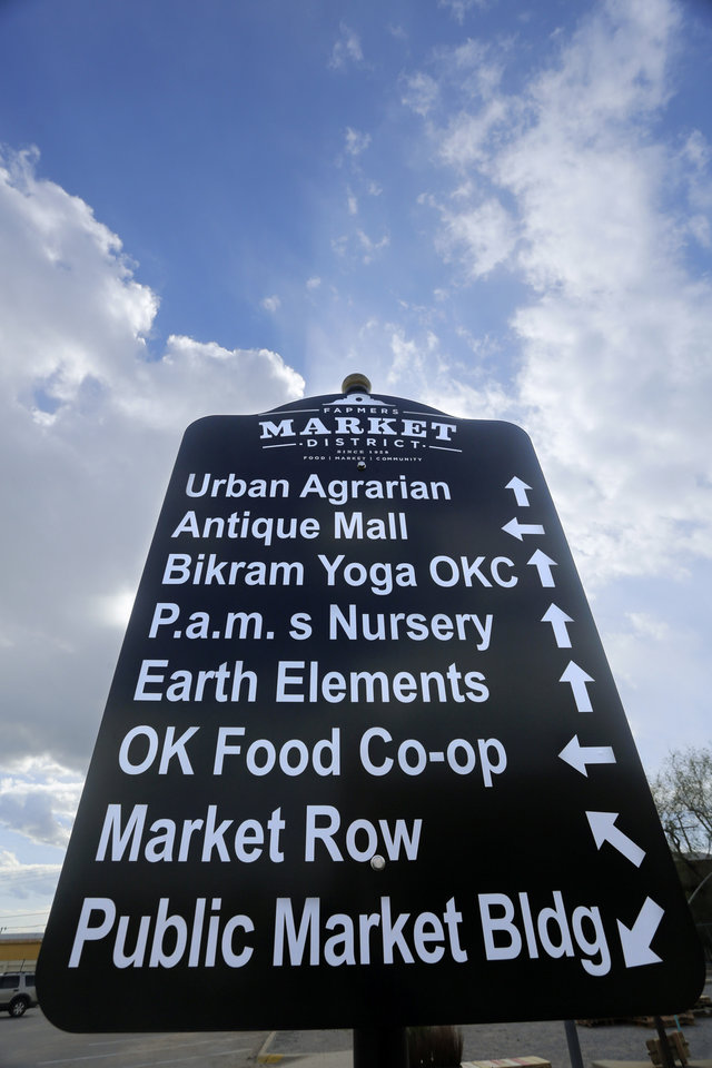 New signage set up for Saturday's Better Block Party in the Farmer's Market District Friday, May 2, 2013. Photo by Doug Hoke, The Oklahoman