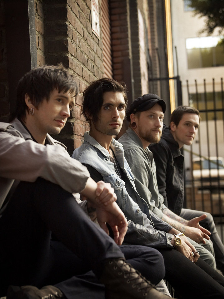 Photo - The All-American Rejects, from left: Nick Wheeler, Tyson Ritter, Chris Gaylor, Mike Kennerty. INTERSCOPE RECORDS PHOTO