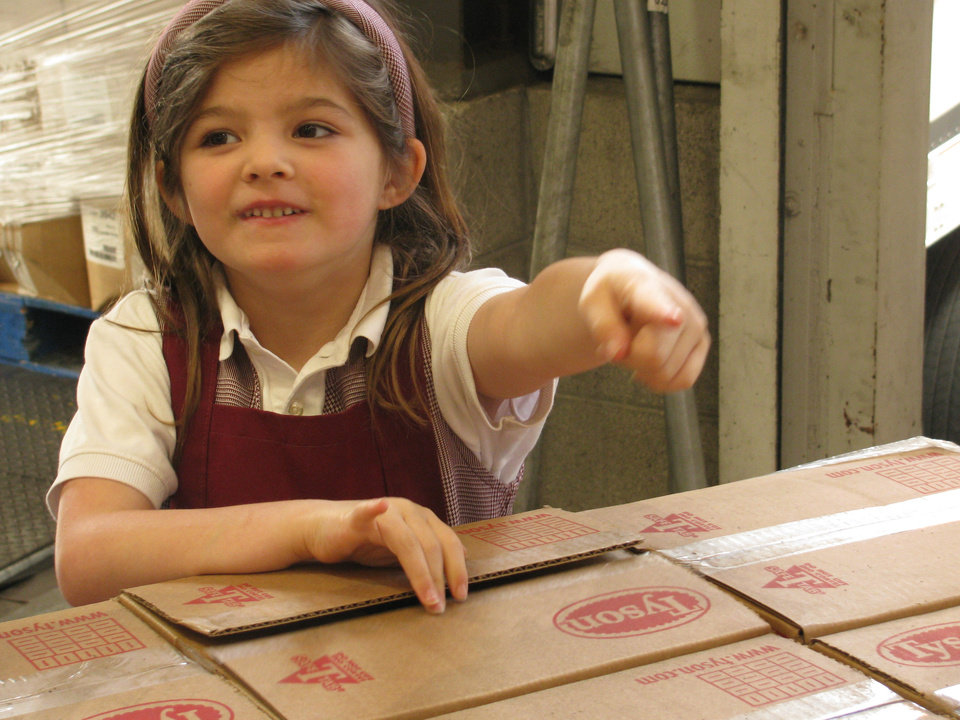 Phoebe Russell, then 6 years old, had a goal to help out the hungry in her community. Little did she know it would spark quite the response. (Photo courtesy Tyson Foods)