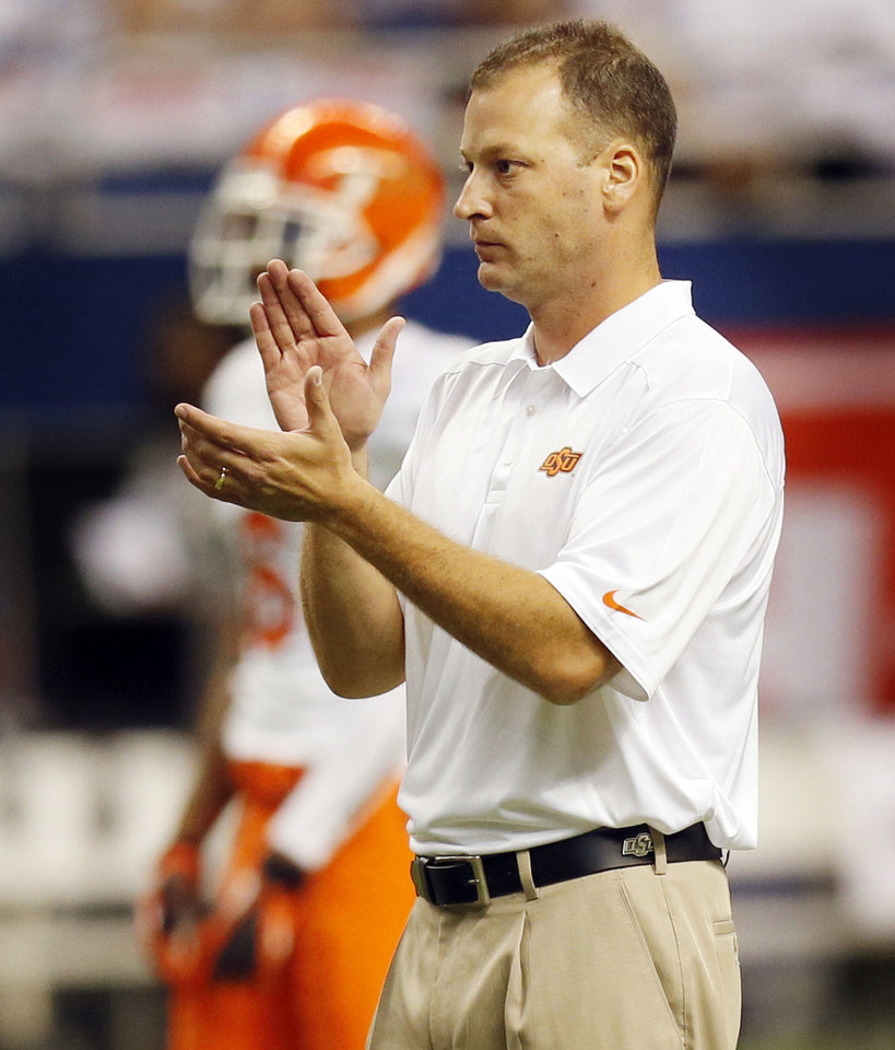 OSU offensive coordinator Mike Yurcich will have family in the stands on Saturday. Photo by Nate Billings, The Oklahoman