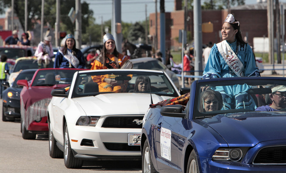Princesses riding in the Red Earth parade, Friday, June 7, 2013. Photo by David McDaniel, The Oklahoman