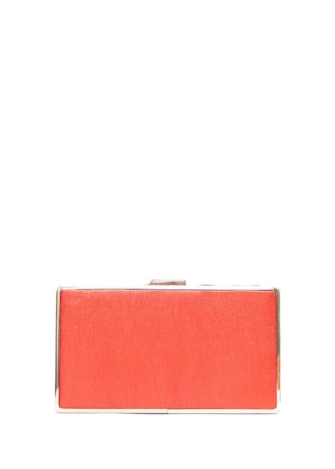 Photo - The Hard clutch, $34.99 from Mango, can add a pop of color to all your summer looks. (Courtesy Mango.com via Los Angeles Times/MCT)