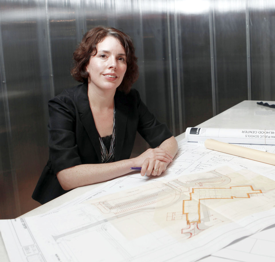 Lisa Chronister is a principal architect at LWPB Architecture in Oklahoma City. Photo by SARAH PHIPPS, THE OKLAHOMAN