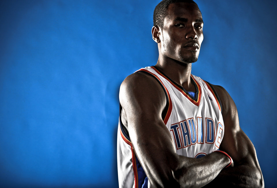 Photo - The Thunder's Serge Ibaka. Photo by Chris Landsberger, The Oklahoman