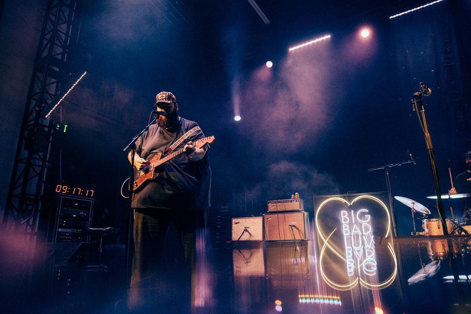 Photo -  John Moreland performs on Dec. 2 at Tower Theatre. The show was the first sold-out concert at the newly renovated Tower Theatre. [Photo provided by Ryan Magnani]