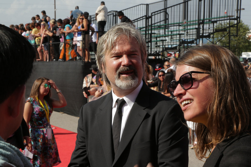 "Gore Verbinski  at the Lawton premeiere of ""The Lone Ranger."" <strong>By Greg Singleton - The Oklahoman</strong>"