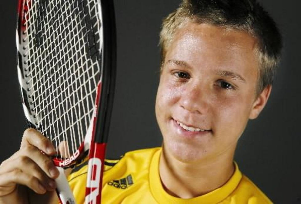 All-City tennis player of the year  Chris  Haworth from Putnam City North High School. Photo by JIM BECKEL