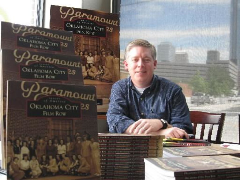 Bradley Wynn at a signing for his book on the history of Film Row.