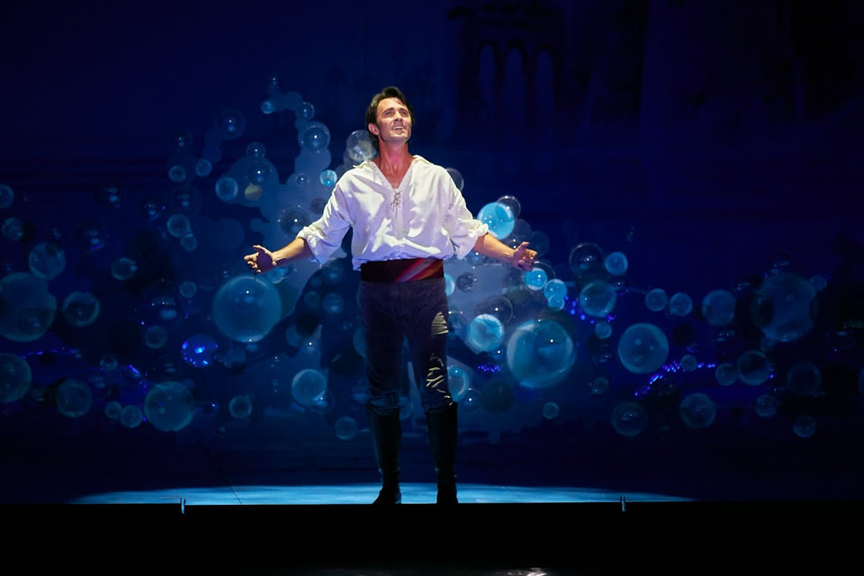 Photo -  Eric Kunze appears in a scene from the musical Disney's
