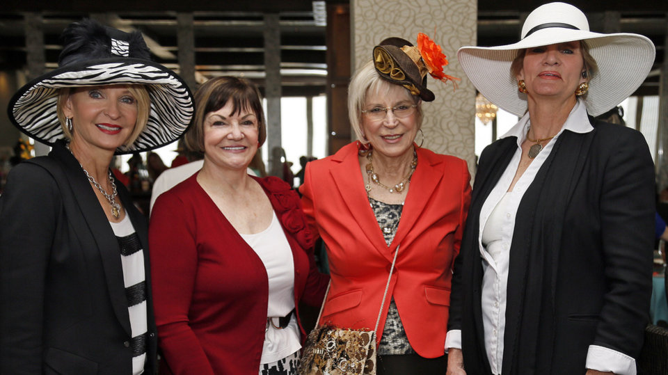 From left, Lana Elliott, Dr. Freda Deskin, Connie Mashburn and Lynne Hardin pose for a photo at the Women of the South's 3rd annual Magnolia Brunch in the Petroleum Club in Oklahoma City, Saturday, April 20, 2013. Photo by Nate Billings, The Oklahoman