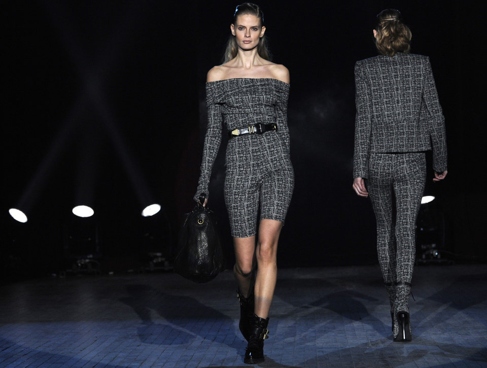 The fall 2009 collection of Alexander Wang is modeled during Fashion Week, Saturday, Feb. 14, 2009, in New York. (AP Photo/ Louis Lanzano)