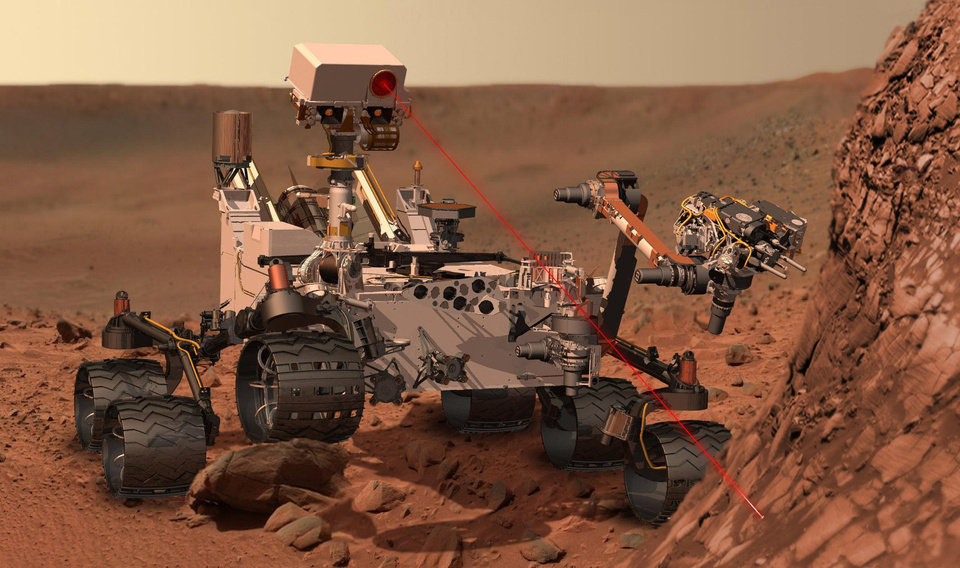 "NASA has pitched ""Curiosity at Home"" as one of its categories for the International Space Apps Challenge, asking developers in this challenge to find ways to make people more aware of the Mars activity of the space rover Curiosity, shown here in an artist's rendering. AP PHOTO/NASA <strong></strong>"