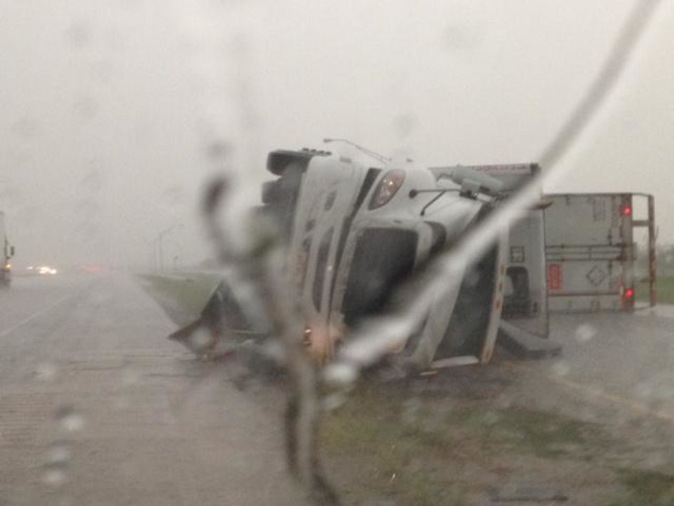 An image from a weigh station near I-40 and Banner Road. Photo by Jim Beckel - The Oklahoman.