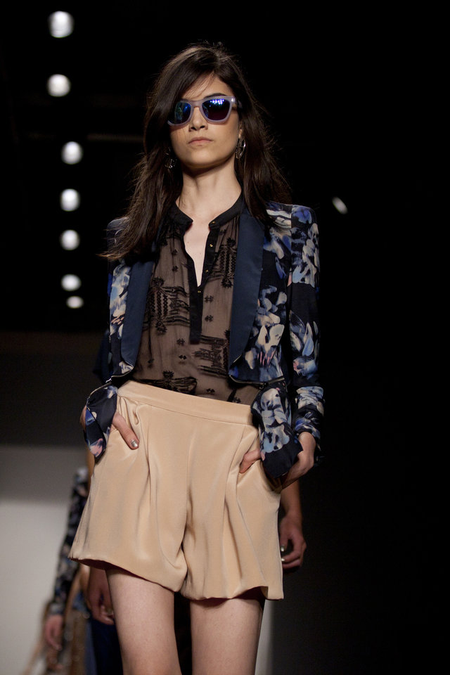 Photo -   The Rebecca Taylor Spring 2013 collection is modeled during Fashion Week, Saturday, Sept. 8, 2012, in New York. (AP Photo/Karly Domb Sadof)