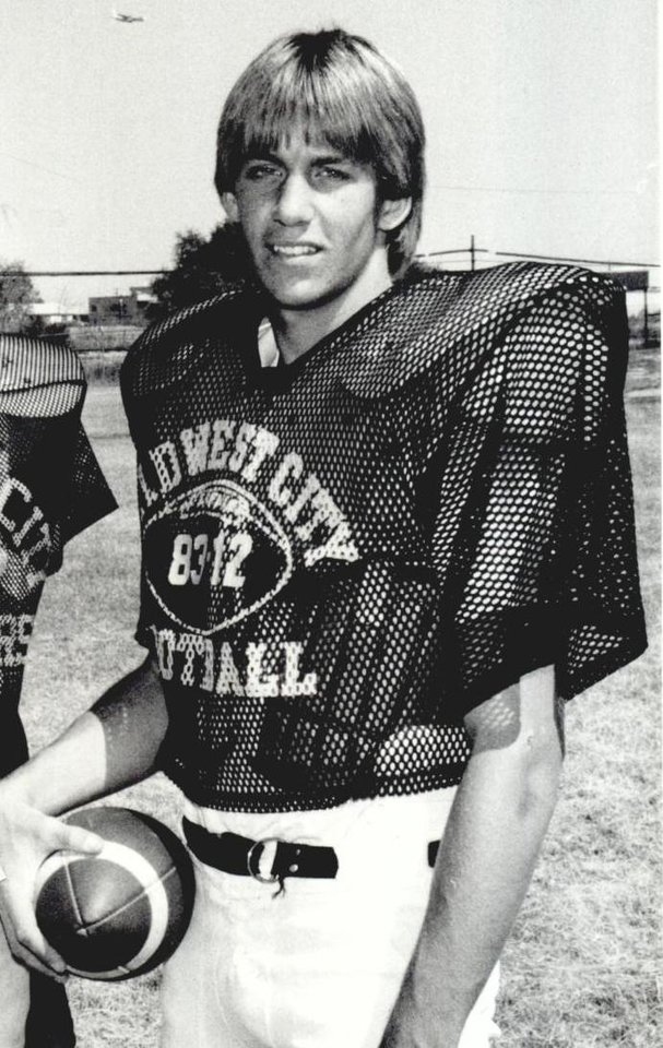 Photo -  Oklahoma State football coach Mike Gundy was an All-City football player with Midwest City High School in the mid-1980s. [OKLAHOMAN ARCHIVE PHOTO]