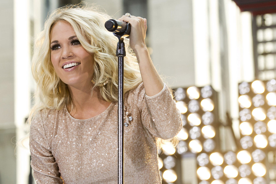 "In this Aug. 15, 2012 file photo, Carrie Underwood performs on NBC's ""Today"" show in New York. (Photo by Charles Sykes/Invision/AP, File) <strong>Charles Sykes - CHARLES SYKES/INVISION/AP</strong>"
