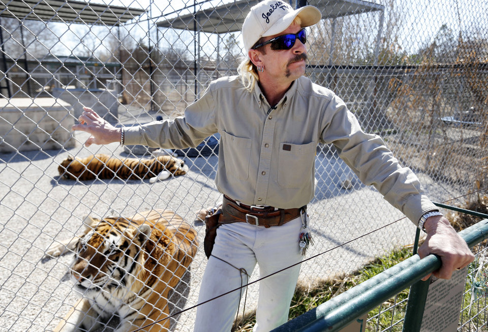 Joe Schreibvogel is  pictured in February at what now is the G.W. Zoo in Wynnewood. He is the animal park's former operator, and he said his animals remain there.  Photo by Steve Sisney,  The Oklahoman