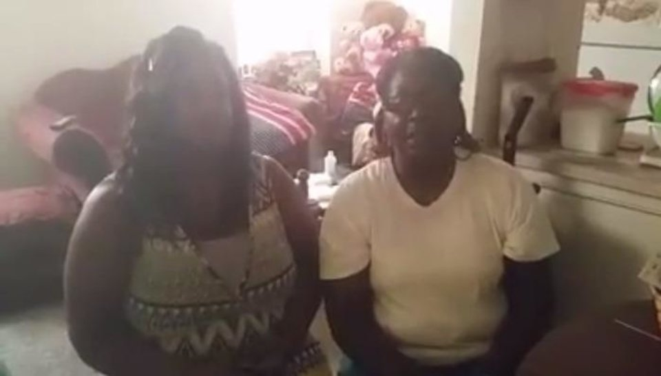 Photo - Joyce Nolen, right, is shown in this image from a video posted on Facebook. Next to her is Megan Nolen. They are the mother and sister of beheading suspect Alton Nolen.