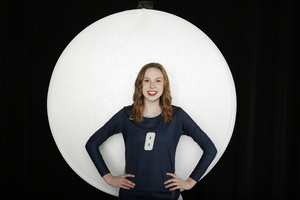 Photo - Kamryn Bacus, Edmond North, volleyball. All City athlete, Thursday, November 14, 2019. Photo by Doug Hoke