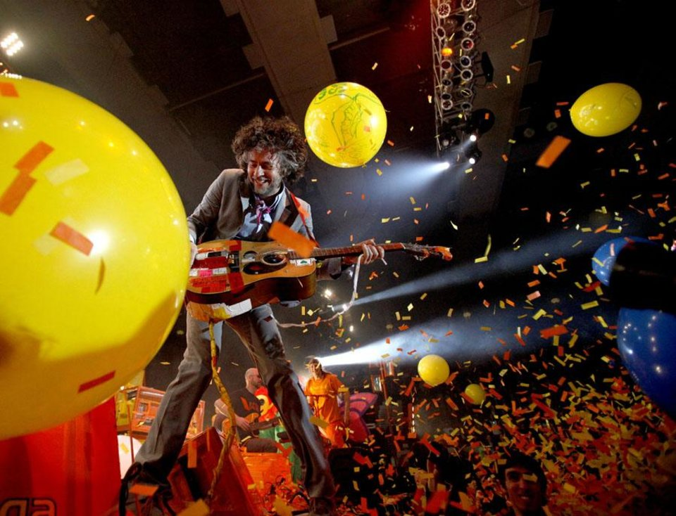 Photo -  Wayne Coyne with The Flaming Lips performs at the Cox Convention Center in Oklahoma City on Thursday, December 31, 2009. Photo by Bryan Terry, The Oklahoman ORG XMIT: KOD