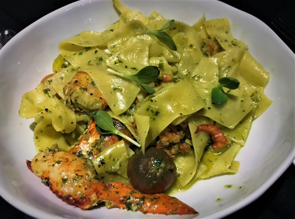Photo -  Lobster Tagliatelle from The Union Wood-Fired Grill in Oklahoma City. [Photo by Dave Cathey, The Oklahoman]