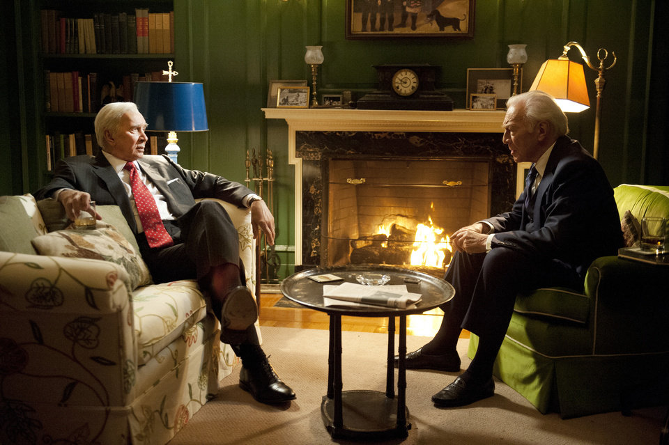 Photo - This undated publicity photo provided by HBO shows Frank Langella, left, and Christopher Plummer in a scene from
