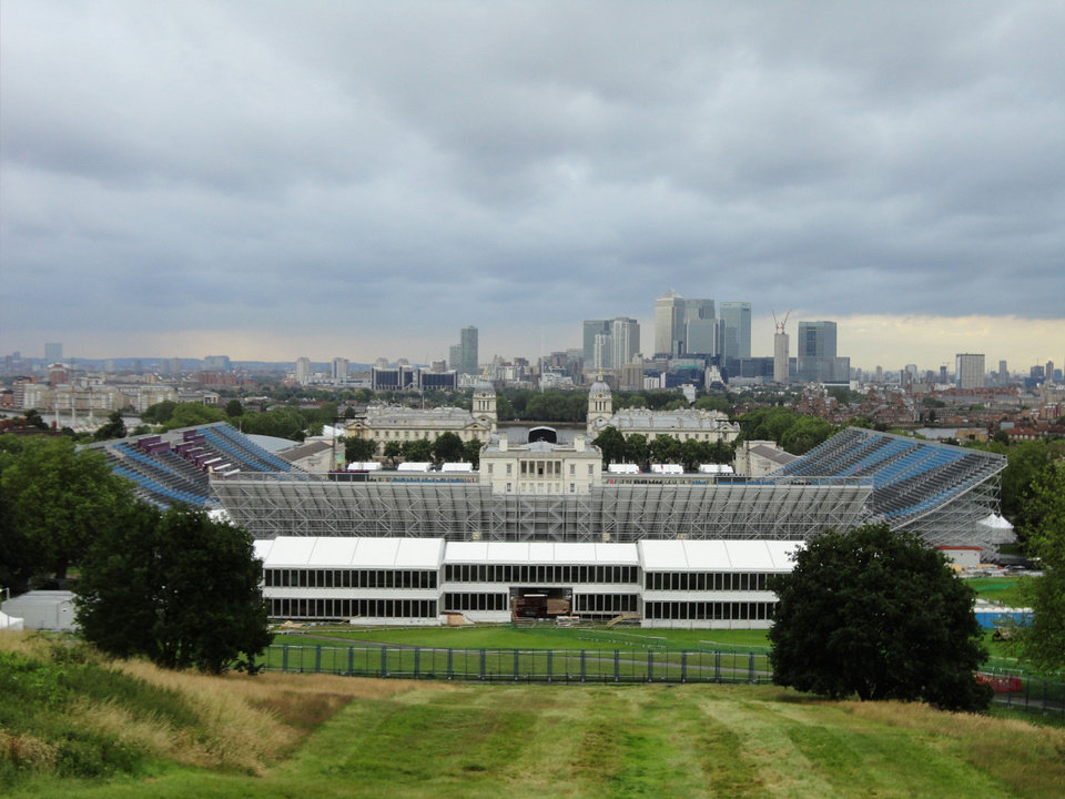 Photo - The Olympic equestrian stadium is seen in London before the 2012 Games. Todd Gralla, who works in the Norman branch of the architectural firm Populous, helped design the facility. Photo provided by Todd Gralla