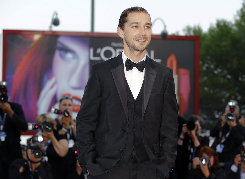 Photo - FILE - In this Sept. 6, 2012 file photo, actor Shia LeBeouf arrives for the premiere of the movie