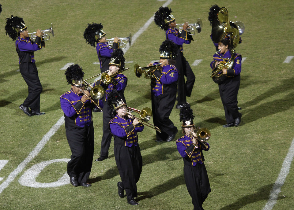 NWC marching band performs at halftime at the Northwest Classen vs. Western Heights high school football game at Taft Stadium Thursday, September 20, 2012. Photo by Doug Hoke, The Oklahoman
