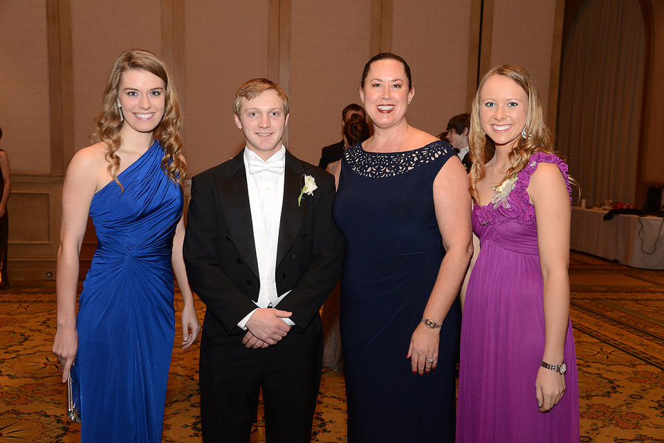 Photo -  Shelby Wilkinson, Scooby Eppler, Carey Sue Vega, Emily Faulkner. Photos by David Faytinger, for The Oklahoman