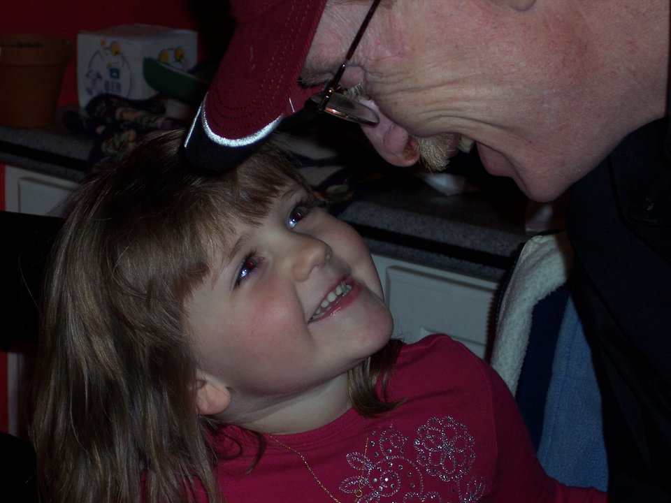 Showing family love, my daughter Jaden and her Grandpa Papa Dave.<br/><b>Community Photo By:</b> Tracy Carroll<br/><b>Submitted By:</b> Tracy, Bethany
