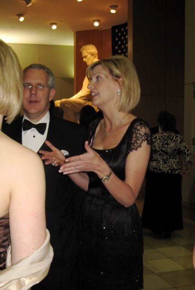 FIRST LADIES GALA....Kim Henry is a gracious hostess. (Photo by Helen Ford Wallace).