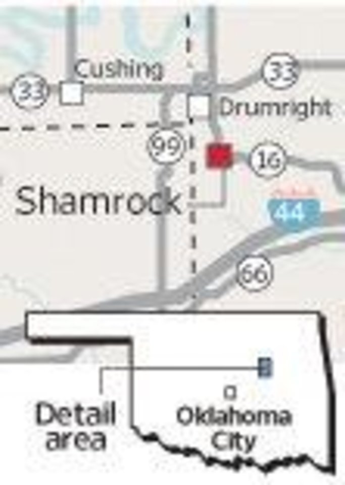 Photo - Shamrock / Cushing / Drumright / MAP / GRAPHIC