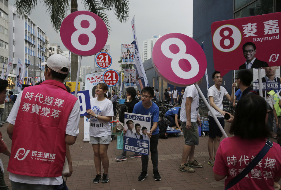 The Latest: 3.7 percent Hong Kongers voted in 2 hours ...