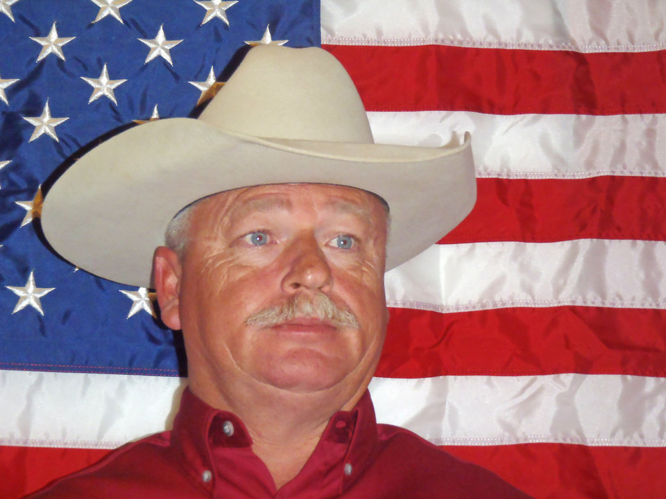 Photo - W. Scott Donovan, 49, of Carney. Republican candidate in the primary election for Lincoln County Sheriff.  Photo provided